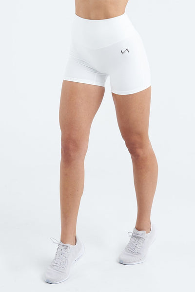 TLF Apparel - Tempo High Waisted Workout Shorts - WOMEN SHORTS - White / XSWhite / SWhite / MWhite / LWhite / XL