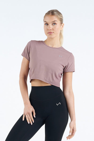 TLF Apparel - Tempo Infi-Dry Gym Crop Top - WOMEN CROP TOPS - Desert Taupe / XSDesert Taupe / SDesert Taupe / MDesert Taupe / LDesert Taupe / XL