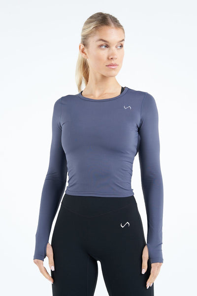 TLF Apparel - Tempo Infi-Dry Long Sleeve Crop Top - WOMEN LONG SLEEVES - Armada / XSArmada / SArmada / MArmada / LArmada / XL