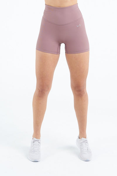 TLF Apparel - Tempo Ribbed High Waisted Workout Shorts - WOMEN SHORTS - Desert Taupe / XSDesert Taupe / SDesert Taupe / MDesert Taupe / LDesert Taupe / XL