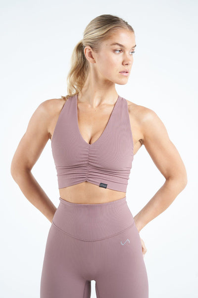 TLF Apparel - Tempo Ribbed Workout Sports Bra - WOMEN SPORTS BRAS - Desert Taupe / XSDesert Taupe / SDesert Taupe / MDesert Taupe / LDesert Taupe / XL