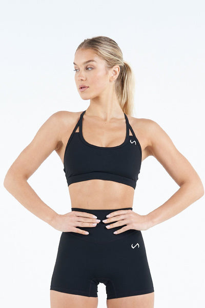 TLF Apparel - Tempo Workout Sports Bra - WOMEN SPORTS BRAS - Black / XSBlack / SBlack / MBlack / LBlack / XL
