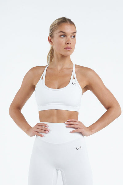 TLF Apparel - Tempo Workout Sports Bra - WOMEN SPORTS BRAS - White / XSWhite / SWhite / MWhite / LWhite / XL