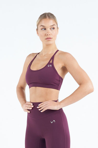 TLF Apparel - Tempo Workout Sports Bra - WOMEN SPORTS BRAS - Wine / XSWine / SWine / MWine / LWine / XL