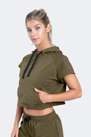 TLF Collegiate Crop Hoodie - WOMEN HOODIES-SWEATSHIRTS & JACKETS - TLF Apparel | Take Life Further