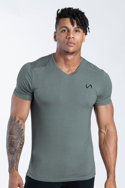 TLF Apparel - Focus Performance Bamboo V-Neck - MEN SHORT SLEEVES - Mineral / SMineral / MMineral / LMineral / XLMineral / 2XL