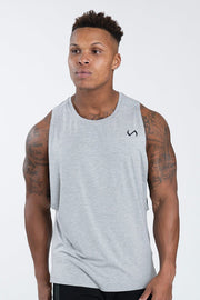 TLF Nova Drop Armhole Workout Tank - Dark Charcoal Heather