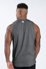 TLF Nova Drop Armhole Workout Tank - Silver Grey Heather