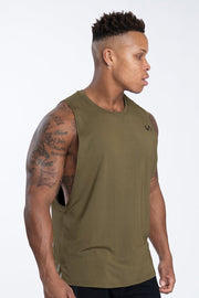 TLF Nova Drop Armhole Workout Tank - Military