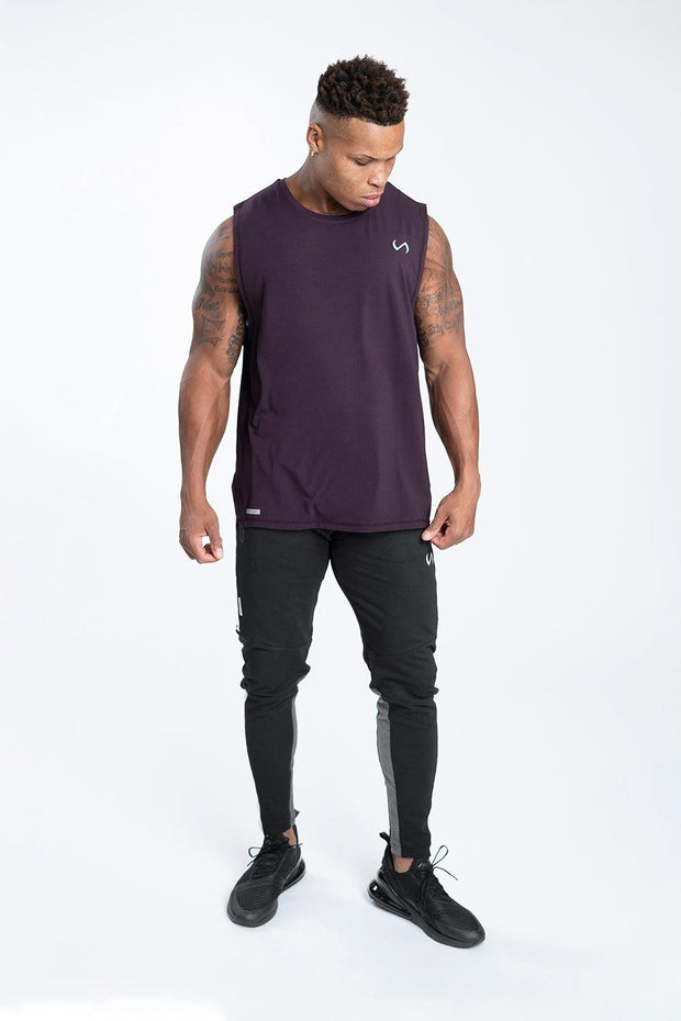 TLF Racer Drop Armhole Workout Tank - Dk Purple