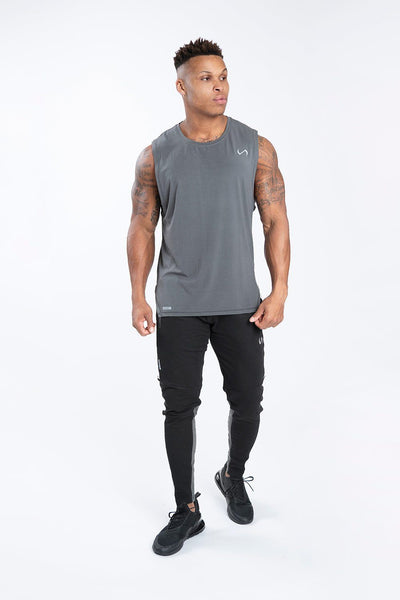 TLF Racer Drop Armhole Workout Tank - Gunpowder