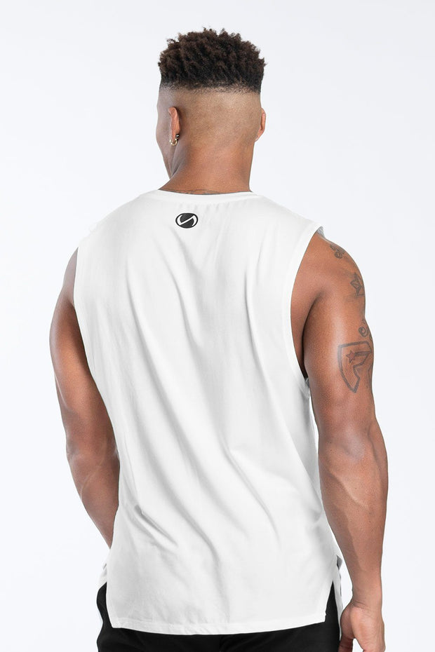 TLF Racer Drop Armhole Workout Tank - Cloud