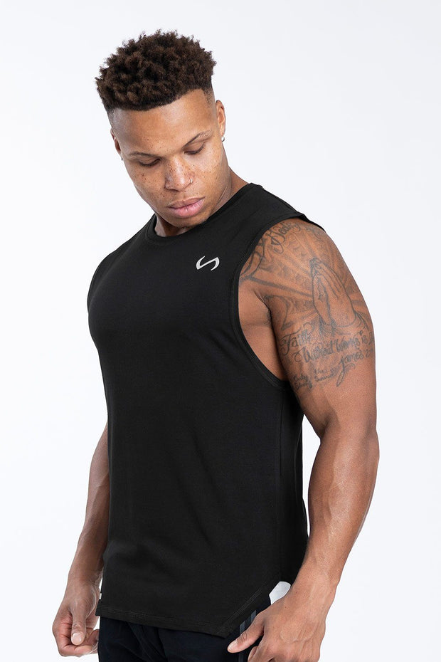 TLF Racer Drop Armhole Workout Tank - Black