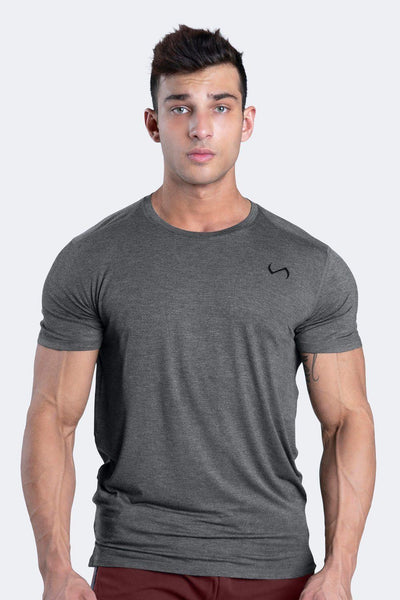 TLF Apparel - Root Performance Bamboo Crew Neck - MEN SHORT SLEEVES - Dk Charcoal Heather / SDk Charcoal Heather / MDk Charcoal Heather / LDk Charcoal Heather / XLDk Charcoal Heather / 2XL