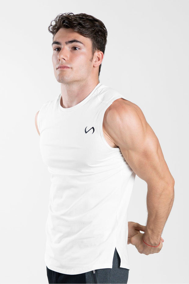 TLF Taurus Sleeveless Workout Top - Cloud