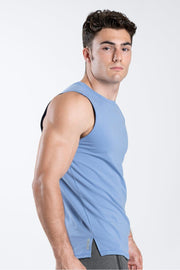 TLF Taurus Sleeveless Workout Top - Airforce Blue
