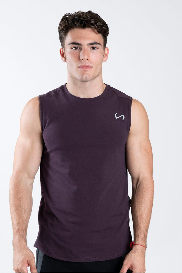 TLF Taurus Sleeveless Workout Top - Dark Purple