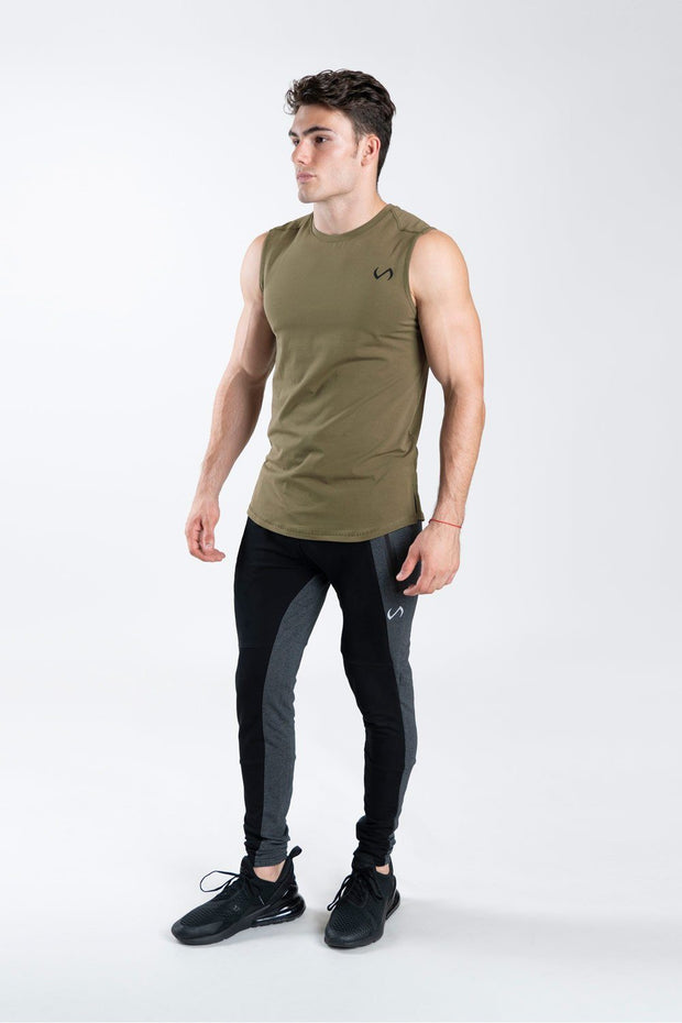 TLF Taurus Sleeveless Workout Top - Military