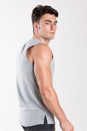 TLF Taurus Sleeveless Workout Top - Silver Grey Heather