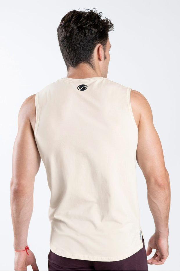TLF Taurus Sleeveless Workout Top - Oatmeal