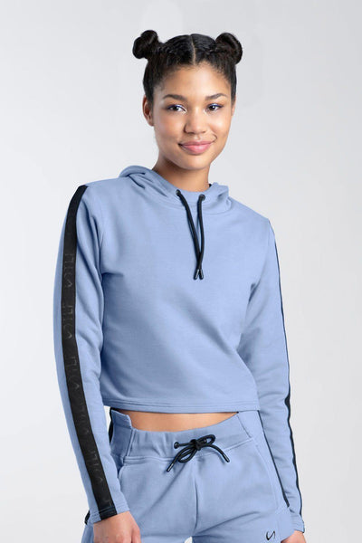 TLF Apparel - Thalia Crop Hoodie - WOMEN HOODIES-SWEATSHIRTS & JACKETS - Airforce Blue / XSAirforce Blue / SAirforce Blue / MAirforce Blue / LAirforce Blue / XL