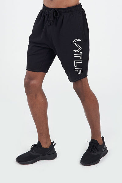 TLF Apparel - Varsity Descend Shorts - MEN SHORTS - Black / SBlack / MBlack / LBlack / XLBlack / 2XL