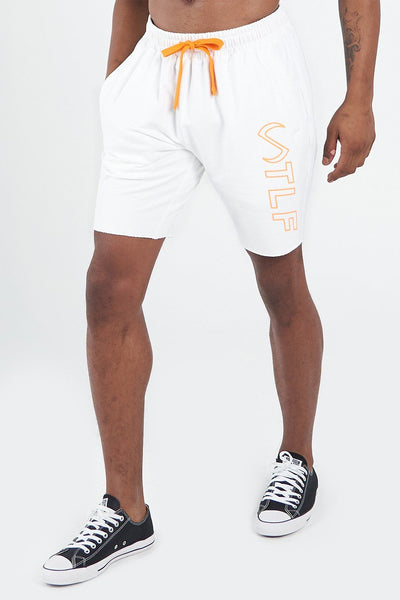 TLF Apparel - Varsity Shorts 2.0 - MEN SHORTS - White Bio Orange / SWhite Bio Orange / MWhite Bio Orange / LWhite Bio Orange / XLWhite Bio Orange / 2XL