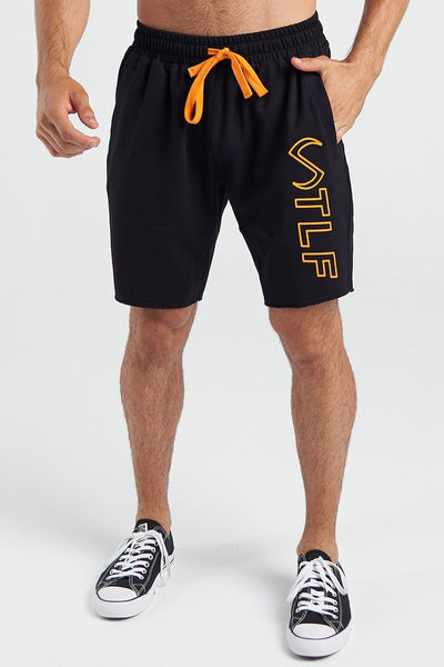 TLF Apparel - Varsity Shorts 2.0 - MEN SHORTS - Black Bio Orange / SBlack Bio Orange / MBlack Bio Orange / LBlack Bio Orange / XLBlack Bio Orange / 2XL
