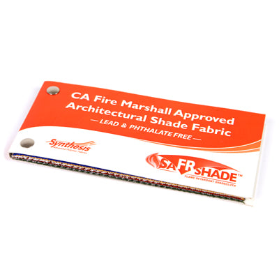 Commercial FR 300 shade fabric sample book
