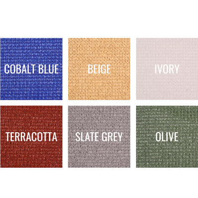 Commercial FR 300 shade fabric color swatches