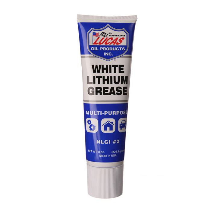 front view of white lithium grease