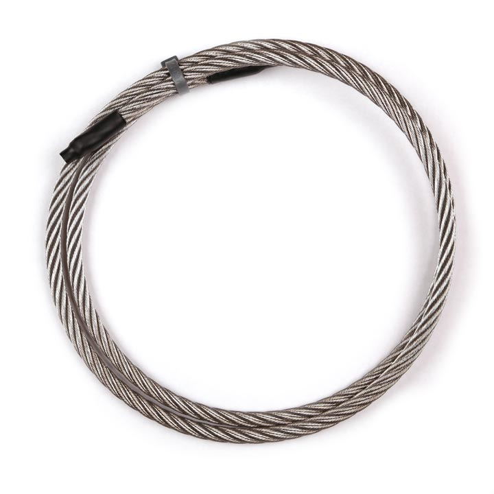 "1/4"" stainless steel wire rope in a coil"