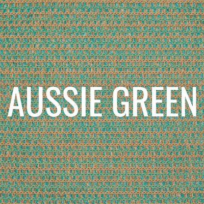 """aussie green"" shade fabric color swatch"