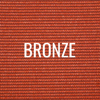 """bronze"" shade fabric color swatch"