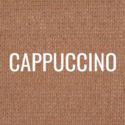 """cappuccino"" shade fabric color swatch"