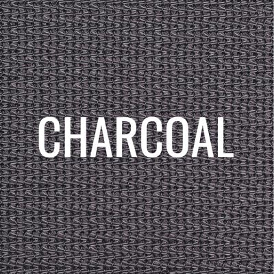 """charcoal"" shade fabric color swatch"