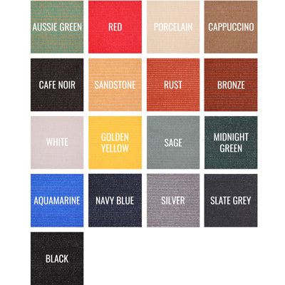 Comtex® shade fabric color swatches