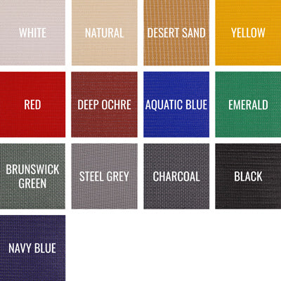 Commercial Heavy 430 shade fabric color swatches
