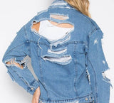 Lace Me Up Jean Jacket