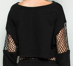 Ride or Die Mesh Crop Top