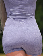 Stormi Gray Active Shorts Set