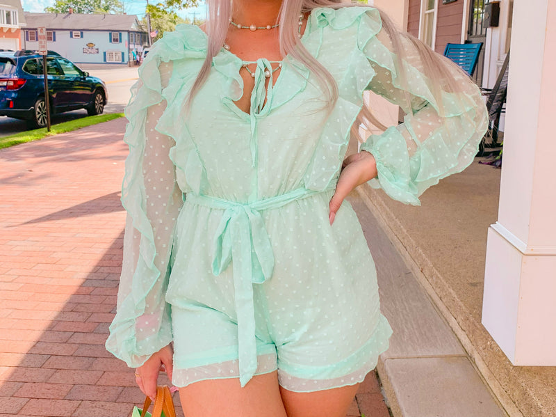 Minty Baby Romper