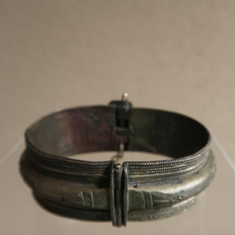 Distressed Etched Metal Bangle