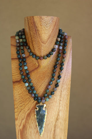 Green Indian Agate Necklace