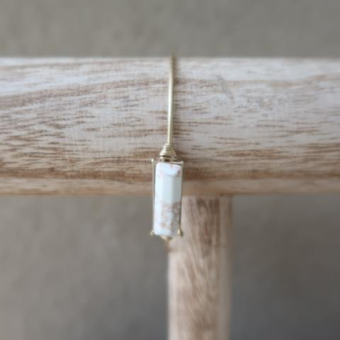 Canvas Stone Bar Latch Bangle