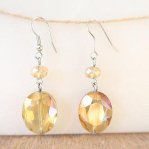 Canary Yellow Dangle Earrings