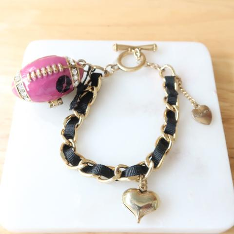 Betsey Johnson  I Love the Quarterback Charm Bracelet