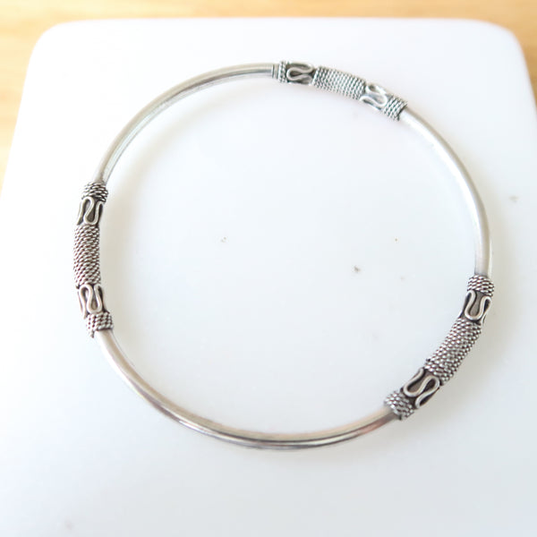 Sterling Silver 925 Balinese Bangle