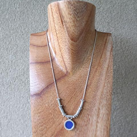 Lapis Pendant Sterling Silver Necklace