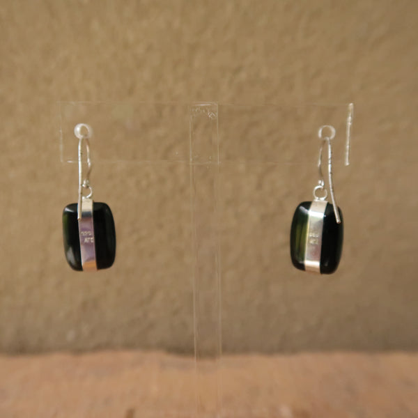 Onyx Sterling Silver 925 Drop Dangle ATI Earrings